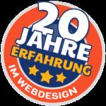 20 Jahre Erfahrung im Webdesign