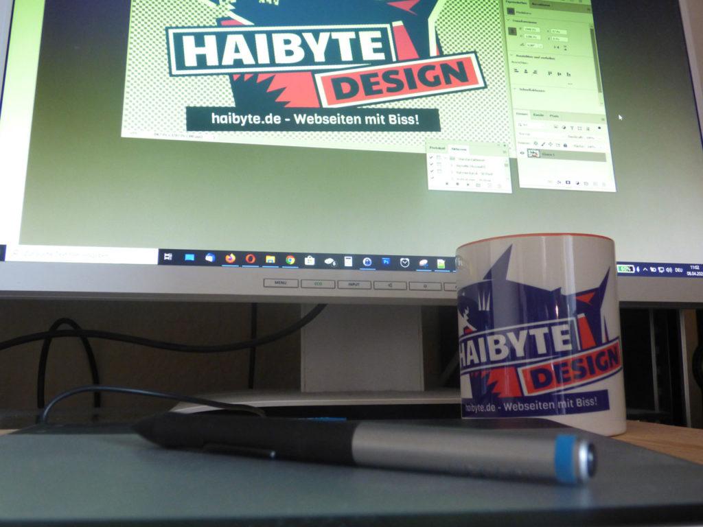 Haibyte Setup mit Grafiktablett