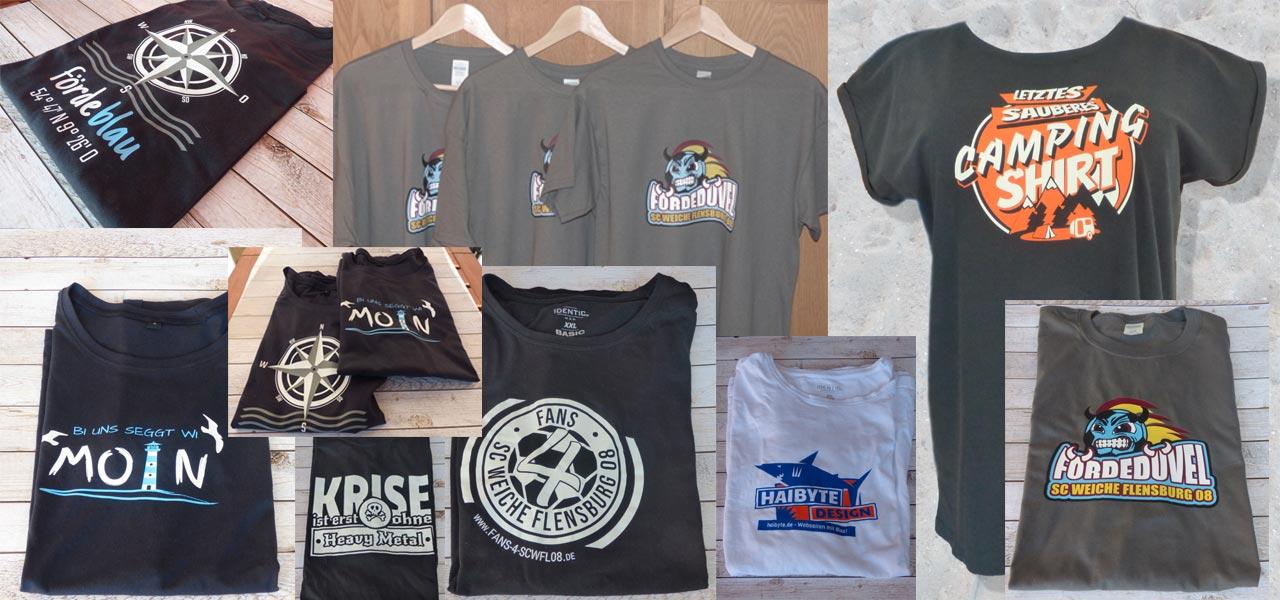 T-Shirts Hoodies und Poloshirts bedruckt